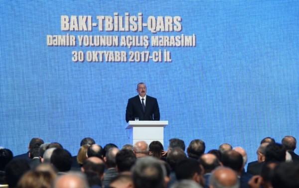 Bakı-Tbilisi-Qars dəmir yolunun açılış mərasimi keçirilir
