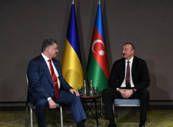 İlham Əliyev Poroşenko ilə görüşdü - FOTO