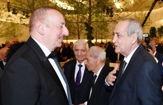 Rasim Balayev prezident və xanımı ilə görüşüb - Fotolar