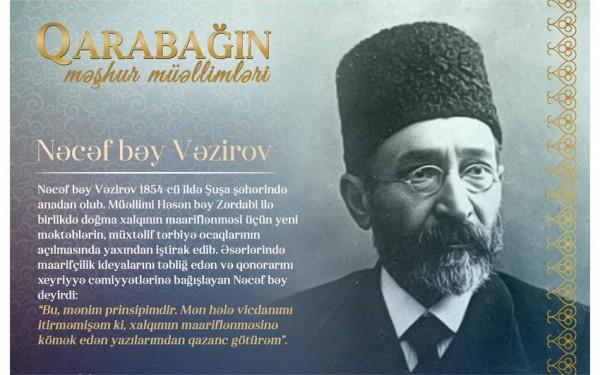 """""""Qarabağın məşhur müəllimləri"""" - Nəcəf bəy Vəzirov"""