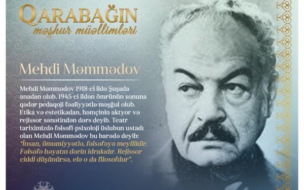 """""""Qarabağın məşhur müəllimləri"""" – Mehdi Məmmədov"""