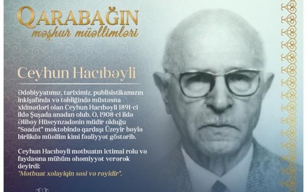 """""""Qarabağın məşhur müəllimləri"""" – Ceyhun Hacıbəyli"""