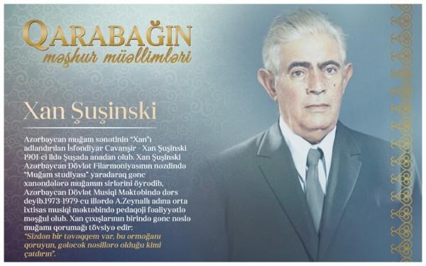 """""""Qarabağın məşhur müəllimləri"""" - Xan Şuşinski"""