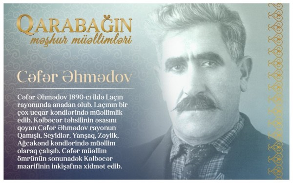 """""""Qarabağın məşhur müəllimləri"""" - Cəfər Əhmədov"""