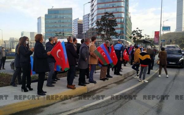 İstanbulda Azərbaycan küçəsinin açılışı olub