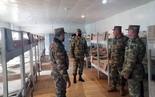 MN və Hərbi Prokurorluğun nümayəndələri hərbi hissələrdə olublar - FOTO