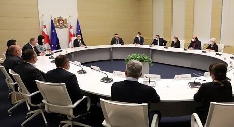 Qaribaşvili bayramla bağlı azərbaycanlılarla görüşdü