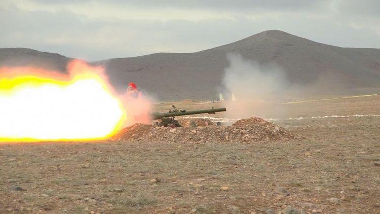 Əlahiddə Ümumqoşun Ordunun tank əleyhinə bölmələrində ixtisas toplantısı keçirilir -  FOTO - VİDEO