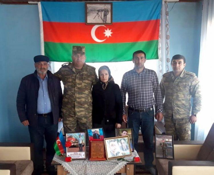 Şəhid ailələri ziyarət olunub -  FOTO