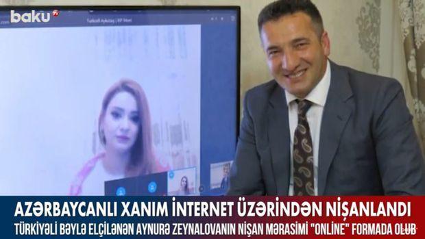 Azərbaycanlı xanım internet üzərindən nişanlandı –  VİDEO