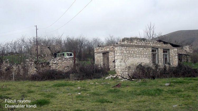 Füzuli rayonunun Divanalılar kəndindən  videogörüntülər