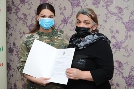 Qənirə Paşayeva şəhid XTQ kapitanı Nurlan Mustafayevin anası ilə görüşüb - FOTO