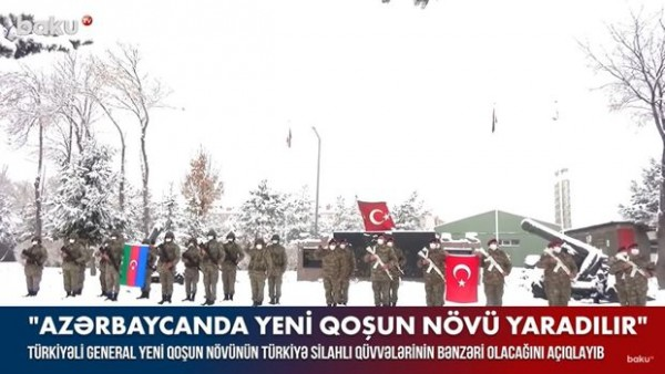 Türkiyəli general yeni qoşun növünün Türkiyə Silahlı Qüvvələrinin bənzəri olacağını açıqlayıb