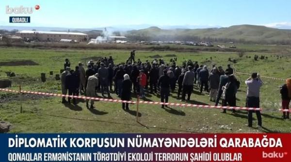 Diplomatik korpusun nümayəndələri ermənilərin törətdiyi vandalizmdən dəhşətə gəldilər