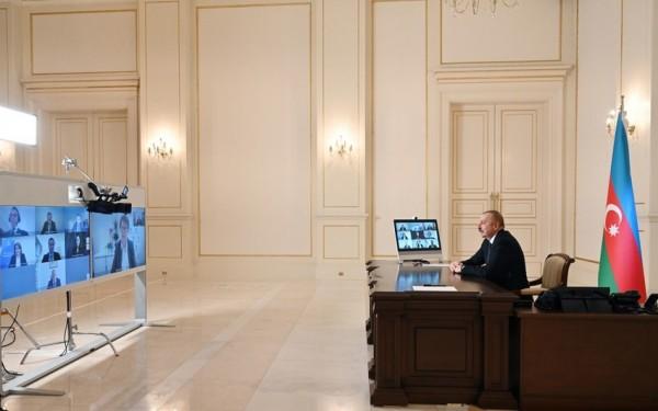 İlham Əliyev Avropa Yenidənqurma və İnkişaf Bankının yeni prezidentini videoformatda qəbul edib