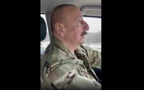 """İlham Əliyev: """"Ermənilər Füzulini oğru kimi dağıdıb, şəhər yoxdu"""" - VİDEO"""