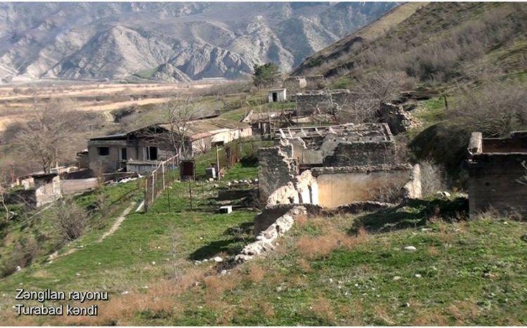 Zəngilan rayonunun Turabad kəndindən videogörüntülər -  VİDEO
