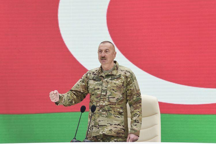 """Azərbaycan Prezidenti:  """"Şəhidlərimizin intiqamını döyüş meydanında aldıq"""""""