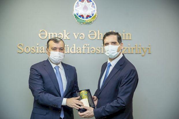 Sahil Babayev Erkan Özoralla görüşdü