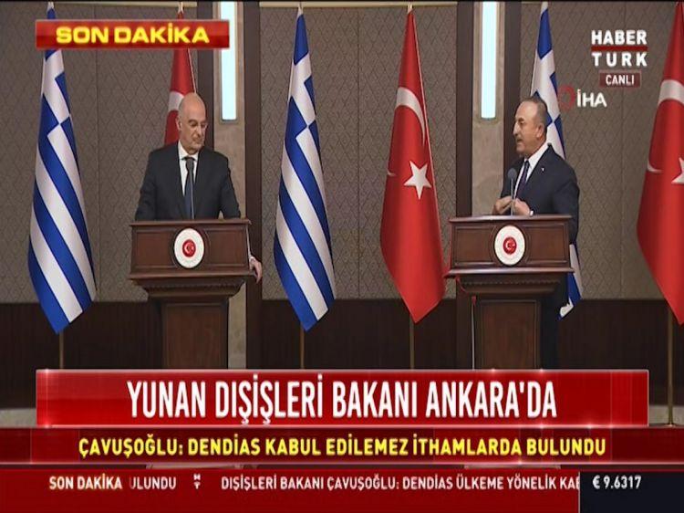 Yunan nazir Ankarada mətbuat konfransında  qalmaqal yaradıb