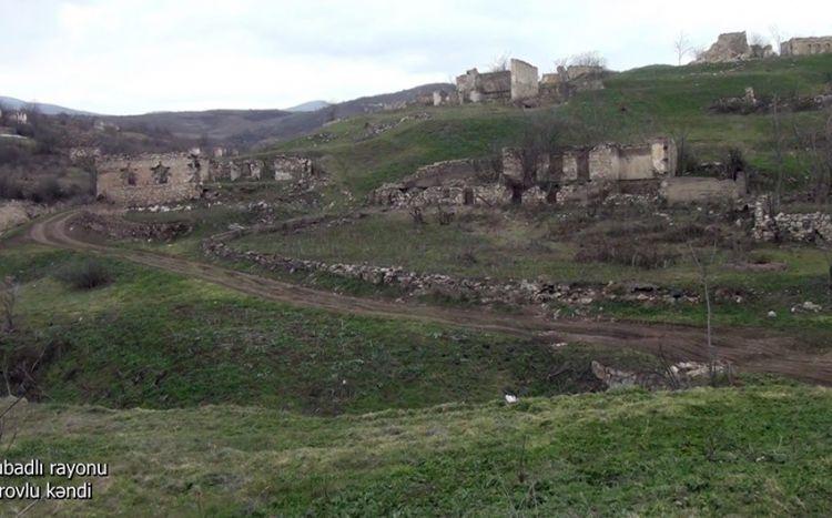 Qubadlı rayonunun Tarovlu kəndindən videogörüntülər -  VİDEO