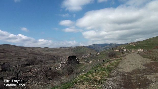 Füzulinin Sərdarlı kəndinin görüntüləri -  VİDEO