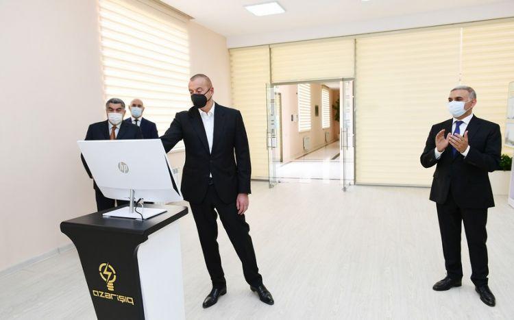 """Prezident Hacıqabulda """"Qarasu"""" yarımstansiyasının açılışında - Yenilənib"""