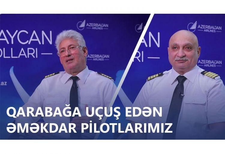 Qarabağa uçuş edən əməkdar pilotlarımız -  VİDEO