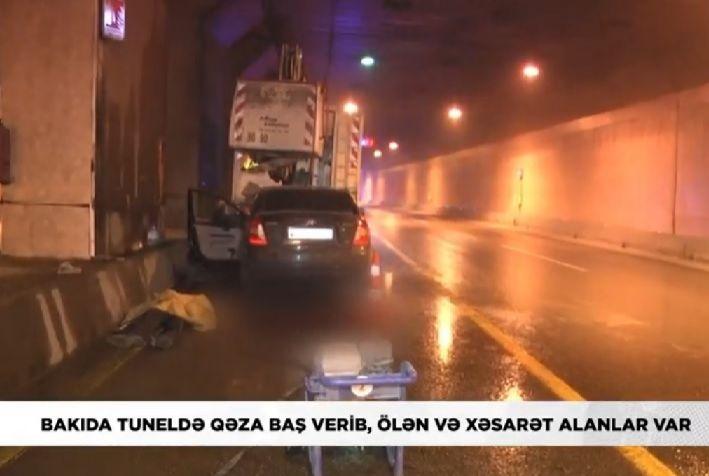 Bakıda dəhşətli qəza: dövlət qurumunun əməkdaşı öldü -  VİDEO