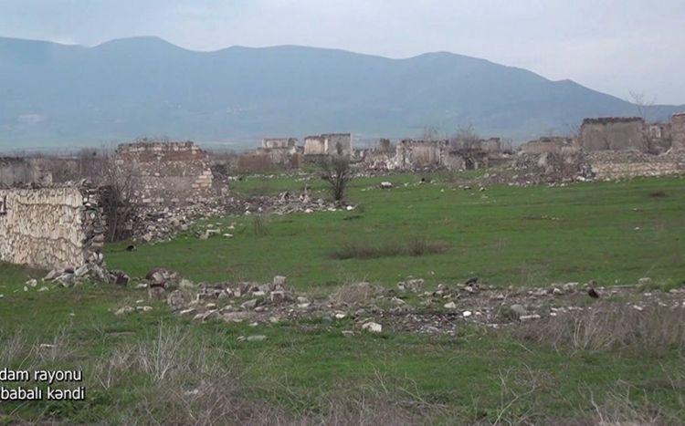Ağdam rayonunun Şıxbabalı kəndindən görüntülər -  VİDEO