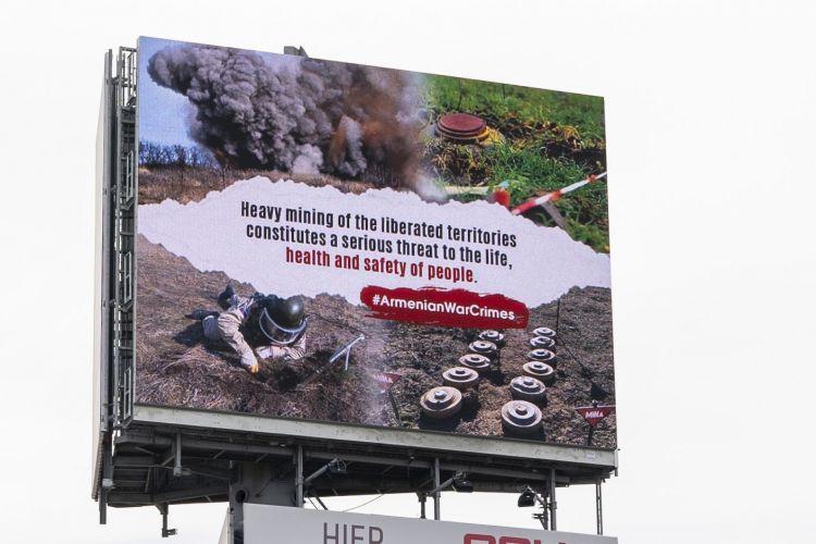 Niderlandda minalanmış Azərbaycan ərazilərilə bağlı bilbordlar yerləşdirilib