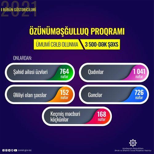 3500-dək şəxs özünüməşğulluq proqramına cəlb olunub