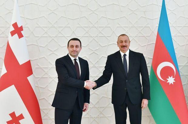 İlham Əliyev Gürcüstanın baş nazirini qəbul edib -  FOTO
