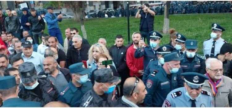 Ermənistanda Sergey Lavrovun səfərinə qarşı etiraz aksiyası keçirilib