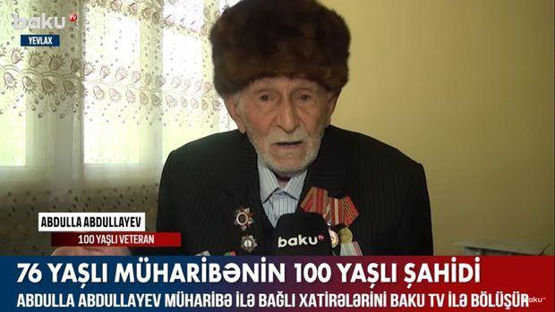 76 yaşlı müharibənin 100 yaşlı şahidi –  VİDEO