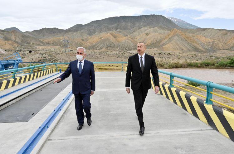 Prezident Ordubad Su Elektrik Stansiyasının tikintisi ilə tanış olub -  Yenilənib