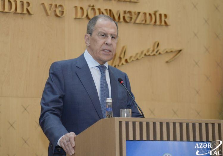 Sergey Lavrov:  Bölgədəki vəziyyəti normallaşdırmaq üçün...