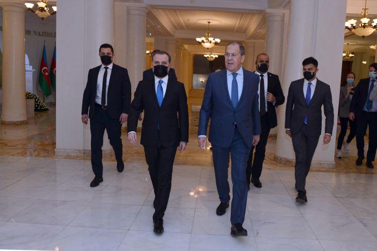 Ceyhun Bayramov və Lavrovun görüşünün təfərrüatları -  FOTO