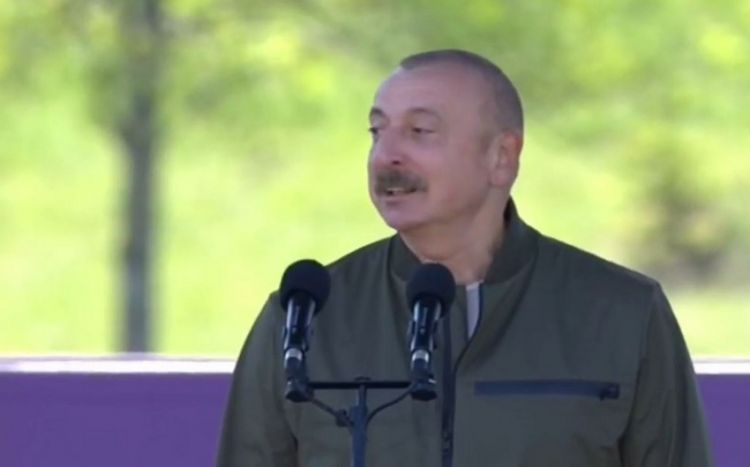 """Prezident İlham Əliyev: """"Bundan sonra biz Şuşada əbədi yaşayacağıq"""" - VİDEO"""