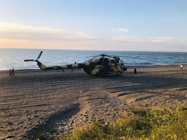 Azərbaycan hərbi helikopteri Türkiyədə təcili eniş etdi –  VİDEO
