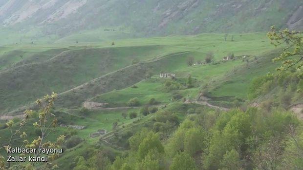 Kəlbəcər rayonunun Zallar kəndindən görüntülər –  VİDEO
