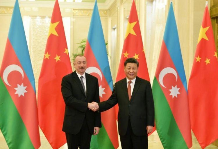 Çin lideri Prezident İlham Əliyevi təbrik edib