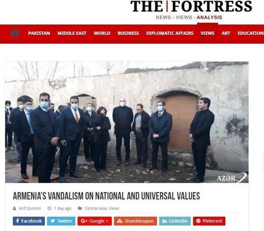 Azad olunan ərazilərimizdə erməni vandallığı Pakistan mediasında