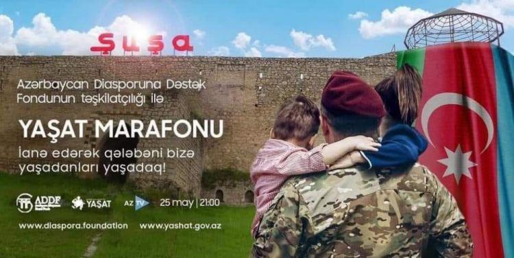 """""""YAŞAT"""" xeyriyyə marafonu dünya azərbaycanlılarının birlik və həmrəylik  simvoludur"""