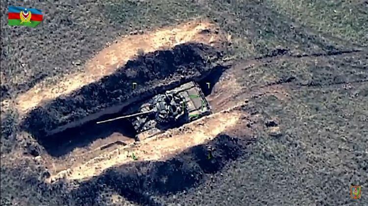 Vətən müharibəsi zamanı düşmən tankları belə məhv edilib -  VİDEO