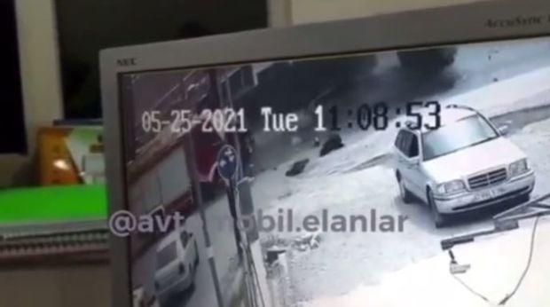 Qəzaya düşmüş FHN avtomobilinin görüntüləri yayıldı - VİDEO