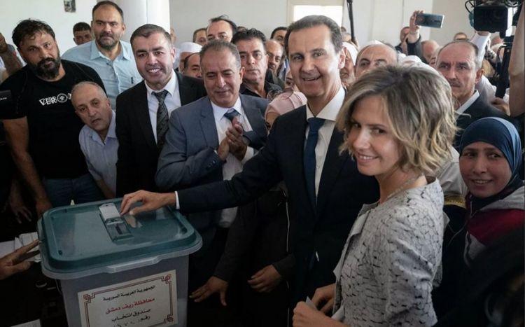 Suriyada keçirilən prezident seçkilərində  Bəşşar Əsəd qalib oldu