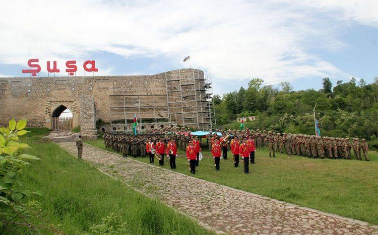 Şuşada 28 May - Respublika Günü qeyd olunub -  VİDEO