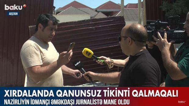 Nazirliyin idmançı əməkdaşı jurnalisti hədələdi –  VİDEO