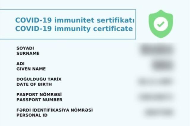 İmmunitet sertifikatını necə almaq olar?